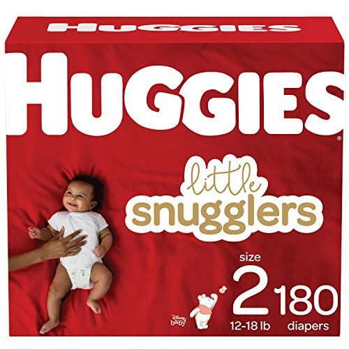 Huggies Little Snugglers Baby Diapers Size 2, 180 Ct
