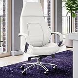 Gates Genuine Leather Aluminum Base High Back Executive Chair - White