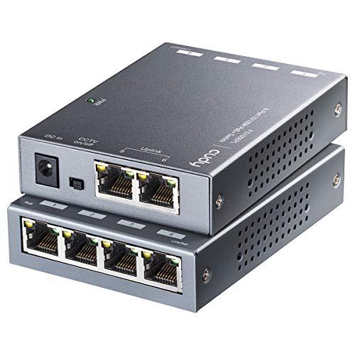 Cudy FS1006PL 6-Porta 10/100M Poe Switch 60W, 4 Porte Poe, modalità CCTV (Distanza di Trasmissione Fino a 250m a 10Mbps), Rilevamento PD,Fan-Less, Custodia in Acciaio, 55W, 802.3at / 802.3af