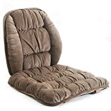 Comfy Lumbar Back Support and Nonslip Chair Seat Pads Cushion Pain Relief Back Rest Lumbar Cushion Pillow for Office,Dinning Desk Chair,Car Seats-Coffee