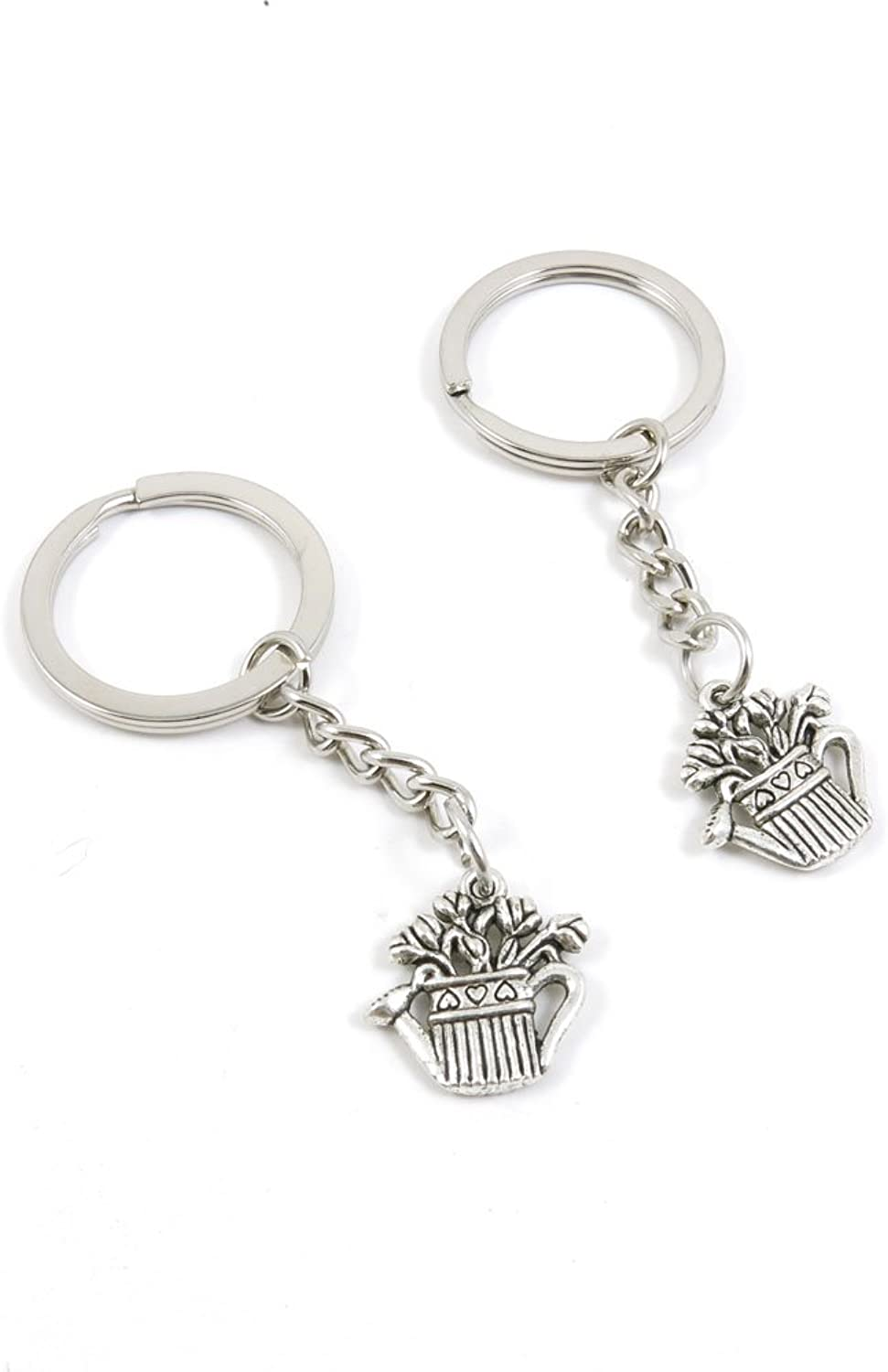 200 Pieces Fashion Jewelry Keyring Keychain Door Car Key Tag Ring Chain Supplier Supply Wholesale Bulk Lots E1ID2 Watering Can Pot