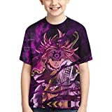 Anime The-Seven-Deadly-Sins Boys Girls T-Shirt Meliodas Novelty 3D Printed Fashion T-Shirt 6-XL