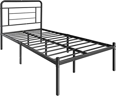 Amazon Basics Modern Studio 14-Inch Platform 1500H Metal Bed Frame, Twin