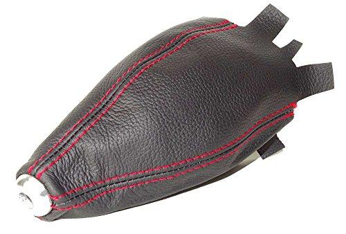 Für Honda Civic EP3Schrägheck 2001–2005Schaltsack schwarzes Leder mit roten Nähten