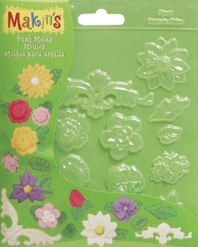 Makin's USA Moules à Argile, Motif Floral.