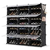 Shoe Rack Organizer, 8 Tier Shoe Storage Cabinet 48 Pair Plastic Shoe Organizer Shoe Shelves for Closet Hallway Bedroom Entryway