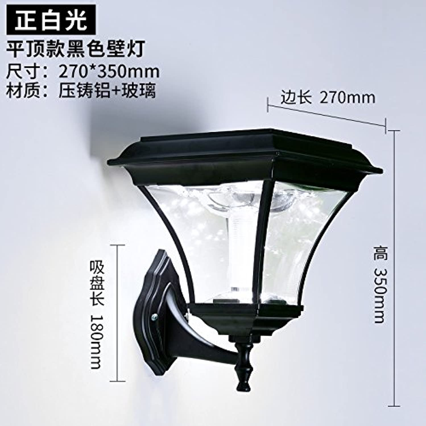 Avanthika E27 Wall Sconces Mounted Wall Lamps Solar Lights Home Outdoor Patio Exterior Wall Lights Wall Lights Waterproof Balcony Solar Wall Lights