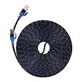 AMONIDA Cable Ethernet de seal Estable, Cable LAN, Reduce la prdida de seal Cable Ethernet de Doble blindaje Extremo(10 Meters)