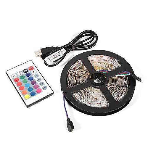 Topincn Led-strips, mini-afstandsbediening, multicolor 5050 RGB LED-strip voor achtergrondverlichting tv, familiefeestversiering, meerweg verpakking