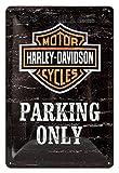 Asher La única idea de regalo para los Fans de Moto Harley-Davidson – Decoración de pared de guardabarros de casco retro para regalos de póster de club, tamaño 20 x 30 cm (8 pulgadas x 12 pulgadas).