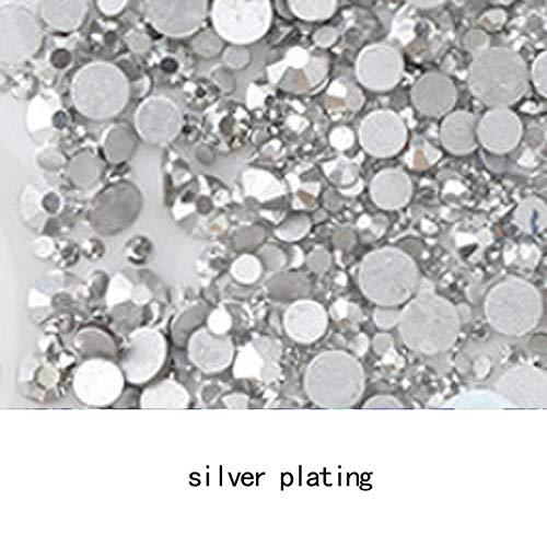 AAAAA Topkwaliteit Crystal Niet Hotfix Strass Super Helder Glas Strass 3D Nail Art Decoratie DIY Jurk Kleding, verzilveren, SS5 1400pcs