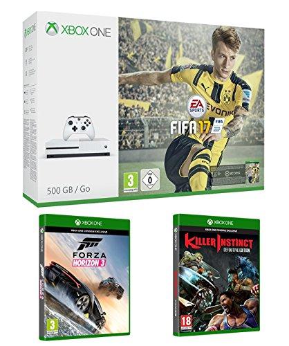 Xbox One S 500 Gb + Forza Horizon 3 + Killer Instinct (Definitive Ed.)