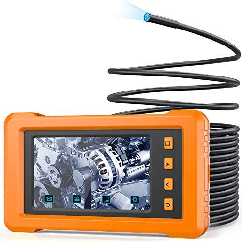Industrie Endoskopkamera, KZYEE KZ2000 5.5MM Durchmesser Endoskop 4,3 Zoll IPS LCD Bildschirm Digitale 2800mAh 1080P mit 6 LED Licht 8G TF-Karte - 10M
