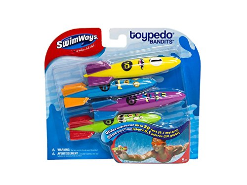 Swimways Pack de 4 Toropedos de agua (BIZAK...