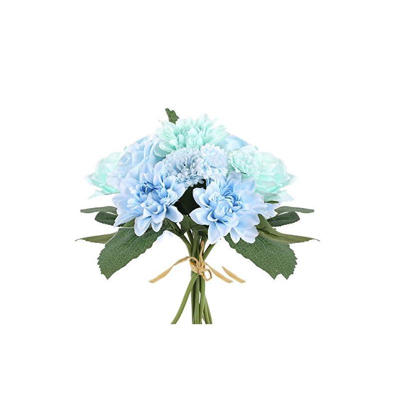 silk flower arrangements ailanda blue dahlia rose and orange mandala rose