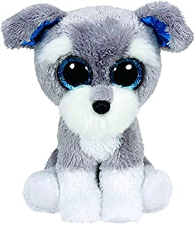 Ty- Whiskers Perro Peluche, Juguete, Color Gris, 15 cm (United Labels Ibérica 36150TY)