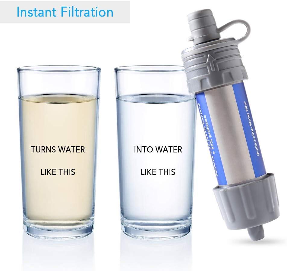 Ksodgun Outdoor-Wasserfilter Strohwasser-Filter-System ...