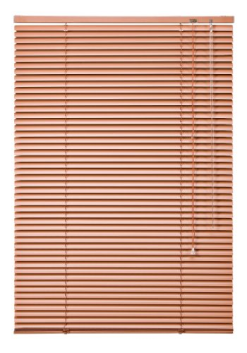 WR-Design Alu Jalousie Terracotta - Breite 50 bis 240 cm - Höhe 130/160 / 220 cm - Tür Fenster Rollo Jalousette Aluminium Fensterjalousie Lamellen Metall (90 x 220 cm)
