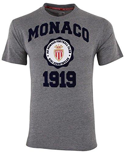 AS Monaco Herren-T-Shirt, offizielle Kollektion S grau