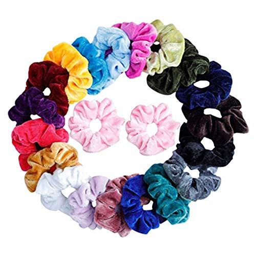WARMWORD Velvet Elástico Hair Scrunchies,Scrunchies Terciopelo Pelo de Bandas Stretchy Gomas de...
