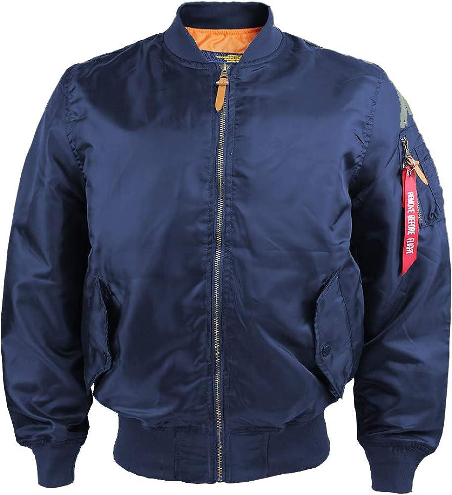 Men's Spring and Autumn Windproof Flight Bomber Jacket Lightweight Jacket Windbreaker Jacket