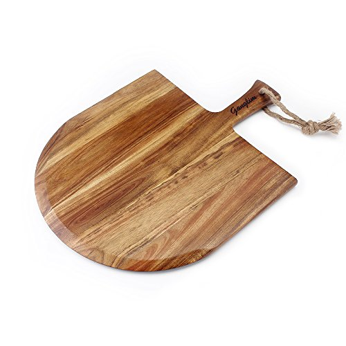 2018 New All Natural Acacia Wood Pizza Peel For Homemade Pizza And Bread,18 Inch x 13 Inch With Handle
