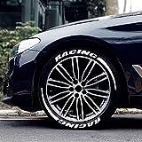 Reifenaufkleber - Autoreifen- und Radbeschriftung Add-On-Dekorationszubehör - Tuning Universelles 3D-Logo Personalisiertes Styling-Radetikett für Fahrzeugmotorräder ziemlich gutes Upgrade