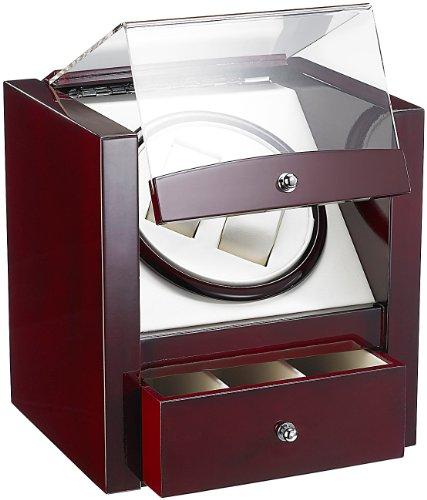 St. Leonhard Uhrenschwenker: Design-Uhrenbeweger für 2 Automatik-Uhren, edle Rotholz-Optik (Uhr Box)