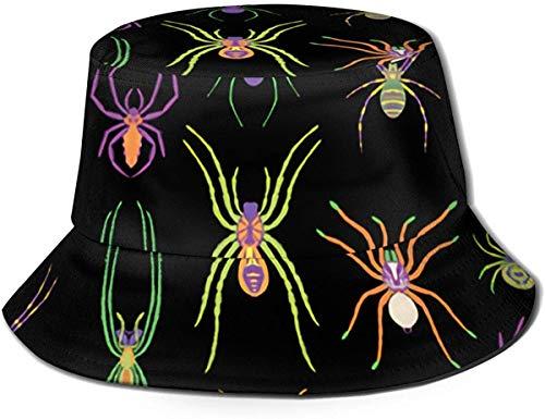 Unisex Cabras Bebé Granja Animal Viaje Sombrero de Cubo Verano Gorra de Pescador Sombrero de Sol-Arañas Cool