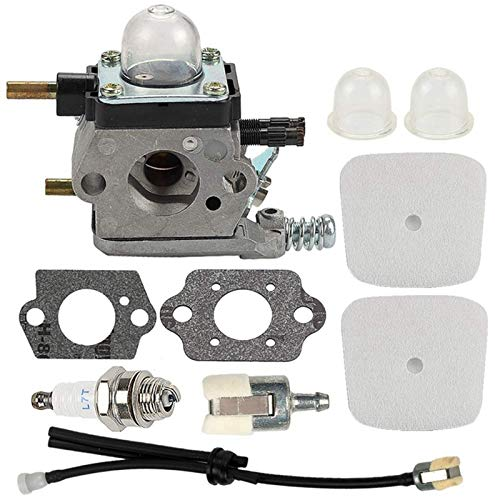 LiMePng Carburetor with Air Filter Repower Kit Fit for 2-Cycle Mantis 7222 7222E 7222M 7225 7230 7234 7240 7920 7924 Tiller/Cultivator LiMePng (Color : Silver)