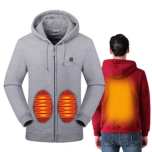 Yeah-hhi Chaleco térmico para hombre con calefacción USB, control de temperatura eléctrico al aire libre, ropa térmica para deportes, senderismo, esquí, D, S