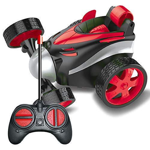BRAND SET Vehículo de Control Remoto Coche del Truco de Xuatro Ruedas, Carro de Control Remoto, Rotación del Balanceo de 360 Grados, Seguro y Duradero, Regalo de Cumpleaños para Niños-Rojo