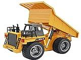 GYD RC ferngesteuerter Kipplader Baufahrzeug, 3 Kanal, mit Akku Spielzeug Spiel Trecker Bagger Ferngesteuert mit LED und SOUND NEU