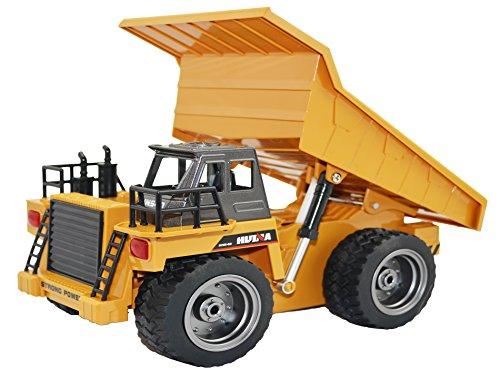 RC Auto kaufen Baufahrzeug Bild: GYD RC ferngesteuerter Kipplader Baufahrzeug, 3 Kanal, mit Akku Spielzeug Spiel Trecker Bagger Ferngesteuert mit LED und SOUND NEU*