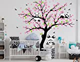 BDECOLL Cartoon arbre Panda DIY Stickers muraux,arbres Stickers muraux apier peint...