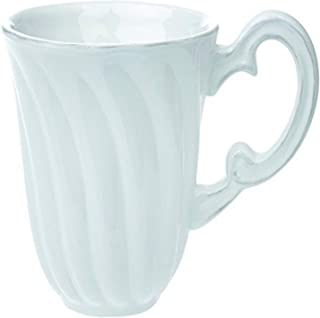 Boston International Whiteware Mug, 5.25 x 3.75 x 4.25-Inch, White
