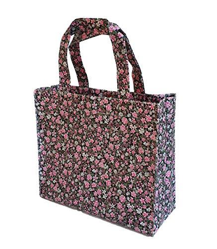 SturdyFoot Kleine boekentas, lunchbox, draagtas, boodschappentas, sporttas, wasdoek draagtas, waterdicht PVC gecoat, dode tas