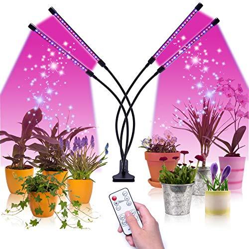 Lucky Goddness Pflanzenlampe 40W LED Pflanzenlicht Led Grow Lampe Züchte Lichter für Zimmerpflanzen mit Zeitschaltuhr 4/8/12H, 3 Arten von Modus, 6 Arten von Helligkeit