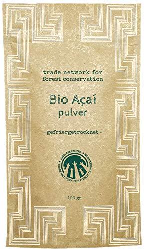 100% Amazonia Reines Acai Pulver Bio | Frisches Extrakt aus der Acai Beeren (Rohkost) |...