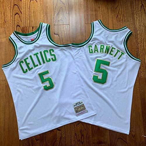 TGSCX Men's Basketball Jersey NBA Boston Celtics 5# Kevin Garnett Cómodo/Ligero/Transpirable Bordado Malla Swing Swing Sworing Sweatshirt,2,XXL