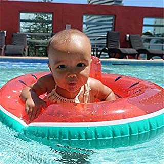 TechCode Kids Infant Baby Inflatable Seat, Watermelon Design Baby Float Swimming Ring Inflatable Swimming Float Ring Seat Children Summer Outdoor Beach Sea Pool Swimming Assistance 23.6 * 23.6 Inch