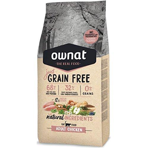 Ownat Pienso para Gatos de Pollo Sin Granos (3 kg) Gatos con Ingredientes Naturales sin Preservantes ni Colorantes, Comida Alta en Proteínas.