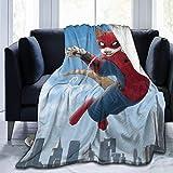 Leyhjai Fleece Throw Blanket Spider-Cat Gatos Divertidos Mantas Hogar Lindo Suave para Sofá Silla Cama Oficina Viaje Camping Niños Adultos Bebé Niño Perro Gato 80'x60