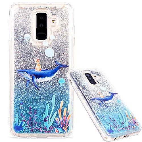 WANYINGLIN Paillette Souple Etui Transparent Doux Plastique Cristal Clair Liquide 3D Shiny Brillant Bling Glitter Sparkles Se écoulant Flowing Cœur Mouvant Coque pour Samsung S7