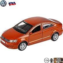 1:36 Scale Diecast Metal Model Car Volkswagen Polo Sedan Brown Russian Die-cast Toy Cars