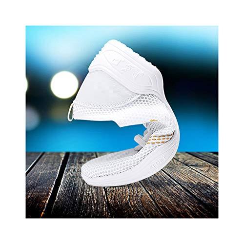 HaoLin Zapatos de Baile de Jazz con Cordones Unisex Modern Stage Goma Suela Partida,White-34 EU