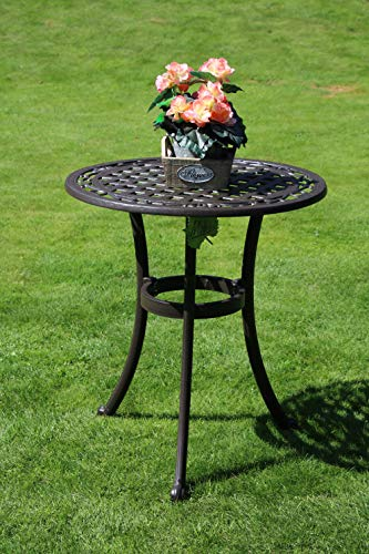 Made for us Gartentisch, Aluguss, rund, Ø 60 cm, Höhe 69 cm, aus wetterfestem Aluguss mit UV beständiger AkzoNobel Einbrennlackierung.