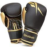 Reebok Guantes de Boxeo - Oro/Negro, 12 oz