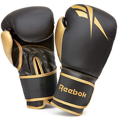 Reebok 14 Oz Boxhandschuh, Gold/Schwarz, 14oz