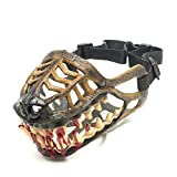 Dog Muzzle Werewolf, Dog muzzles for Barking and Biting with Teeth, for Small Medium Large Dogs Muzzle (7)